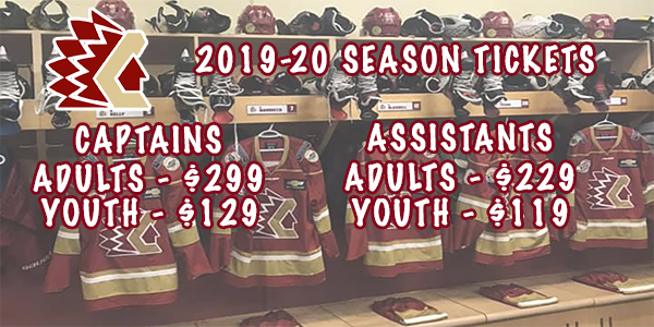 Tickets | 2019-20 Home Games / CHILLIWACK CHIEFS VS PRINCE GEORGE SPRUCE KINGS at Chilliwack Coliseum, Chilliwack, BC on 9/20/2019 7:00 pm | Chilliwack Chiefs